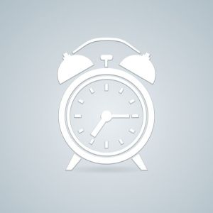 Alarm simple clock  illustration