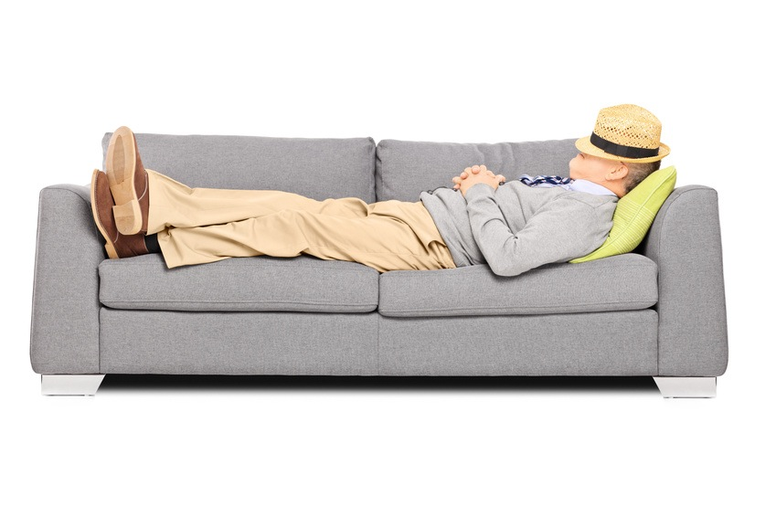 Do men not suffer from sleep problems or do they simply  : man sleeping on sofa from secretsofagoodnightssleep.com size 849 x 566 jpeg 84kB